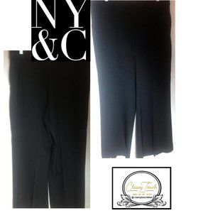 New York & Co Black Pull On Pants Size L